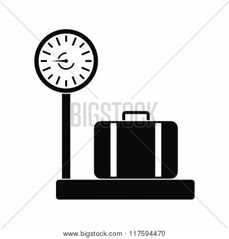 Weighing luggage icon