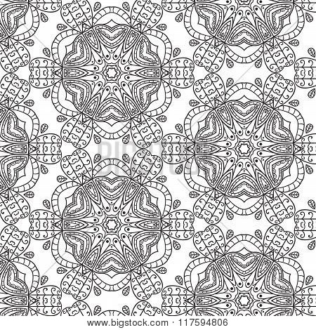 Tribal Art Ethnic Seamless Pattern. Boho Print. Ethno Ornament