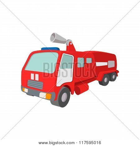 Fire truck cartoon icon
