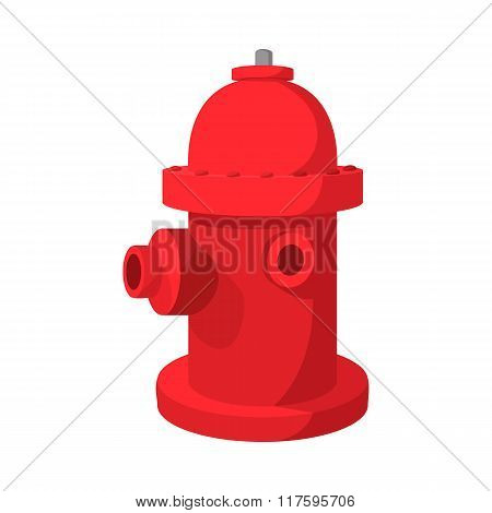 Fire hydrant cartoon icon