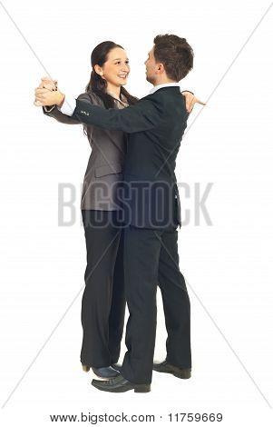 Office Workers Couple Dance Waltz