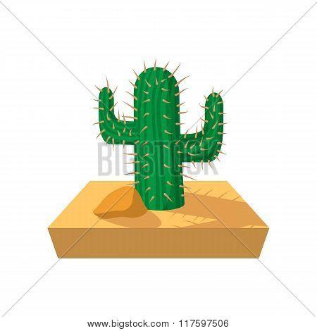 Cactus cartoon icon