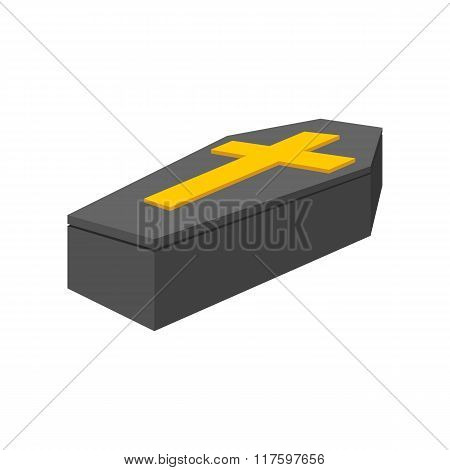 Black coffin isometric 3d icon