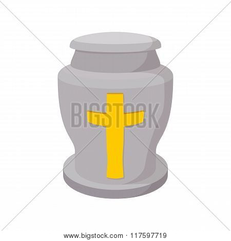 Urn for ashes cartoon icon
