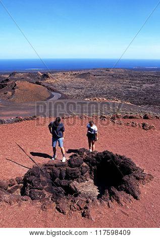 Volcanic bore hole, Lanzarote.