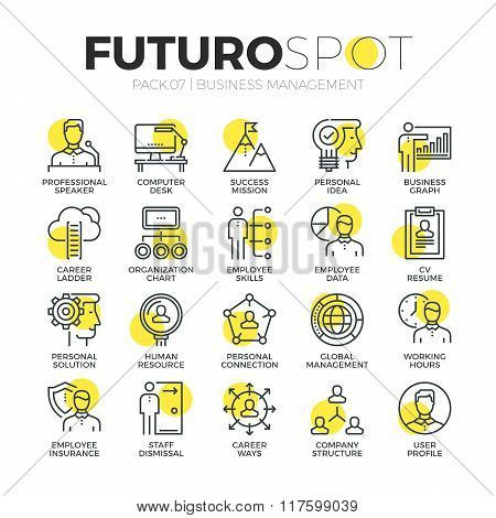 Business Organization Futuro Spot Icons
