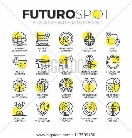 Business Symbols Futuro Spot Icons