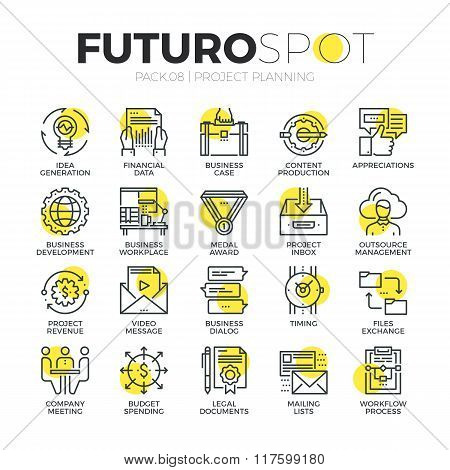 Business Workflow Futuro Spot Icons
