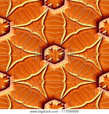 Abstract decorative iron orange texture-pattern