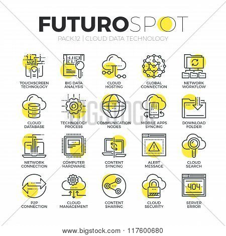 Cloud Technology Futuro Spot Icons