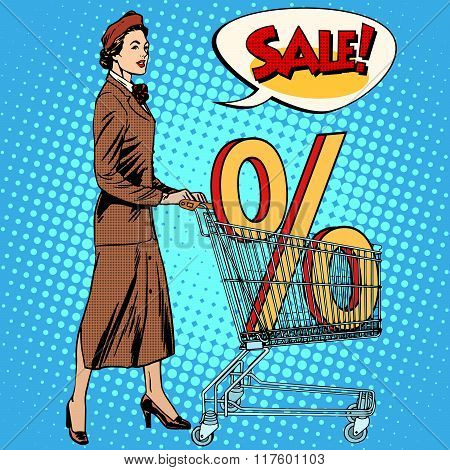 Buyer discounts sale grocery cart