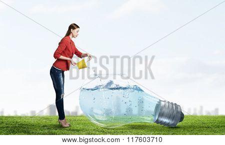 Fresh crystal water