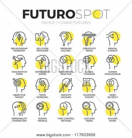Mental Features Futuro Spot Icons