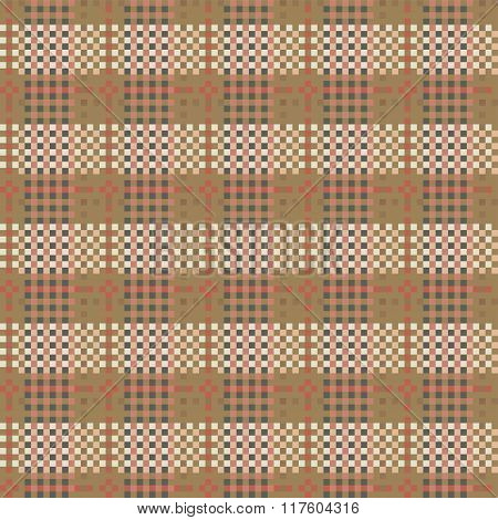 Seamless Checkered Pattern In Country Style