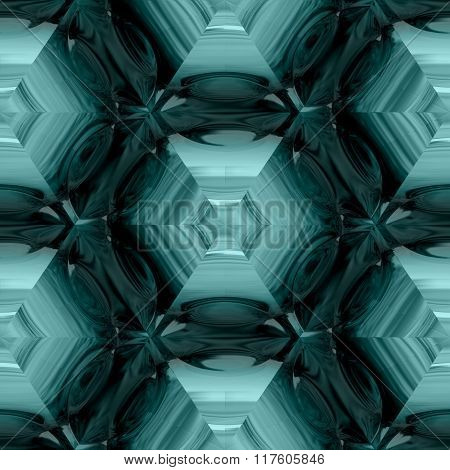 Abstract decorative light blue glass - pattern