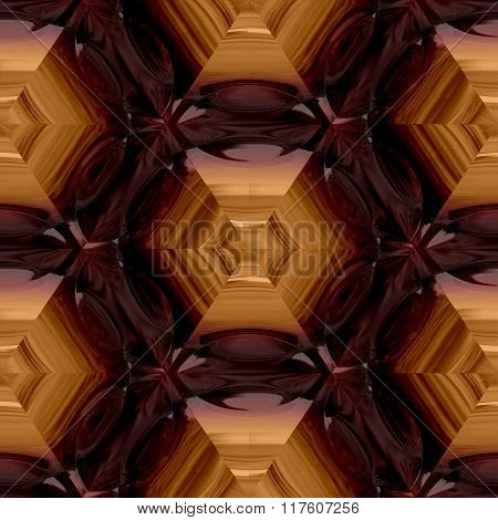 Abstract decorative brown glass - pattern