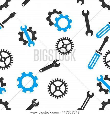 Mechanical Tools Seamless Flat Vector Pattern