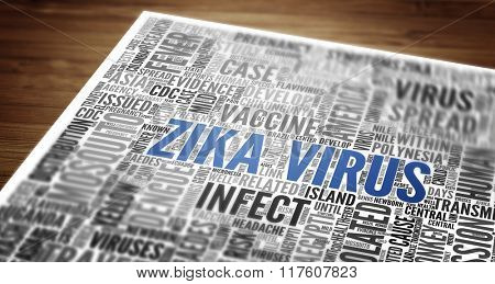 ZIKA Virus (ZIKA-Virus) as abstract concept art
