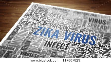 ZIKA Virus (ZIKA-Virus) as abstract concept art
