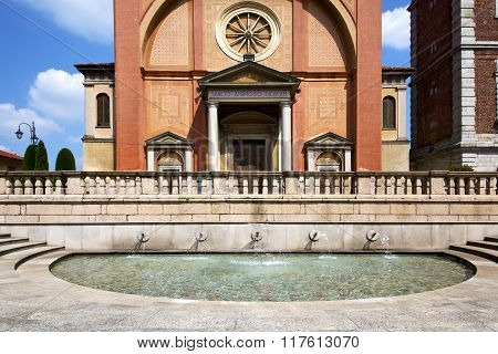 Lonate Pozzolo Varese  Church  The  Wall Terrace   Bell Tower Fountain