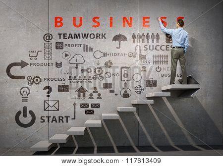 Businessman presenting his ideas
