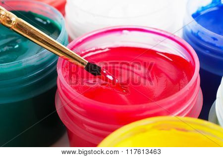 Brush And Paint Jar