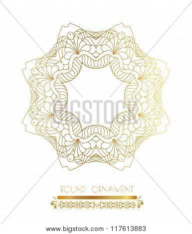 Traditional golden decor