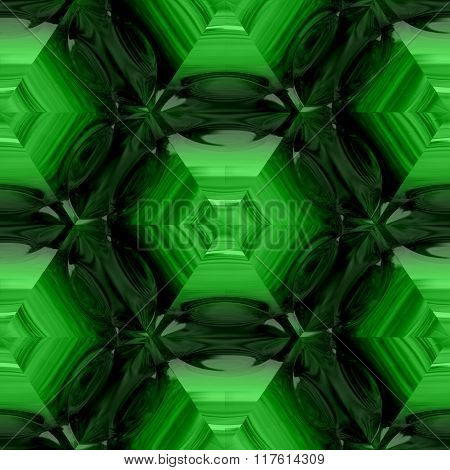 Abstract decorative green glass - pattern