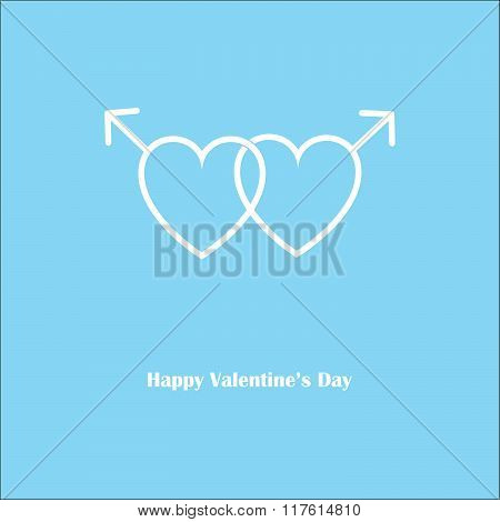 Happy Valentine's Love Gay Blue Card