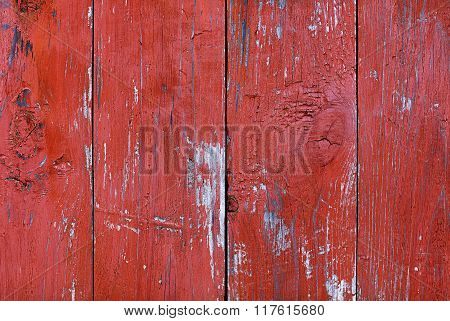 Background of red painted boards