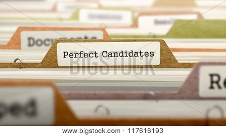 Perfect Candidates Concept. Folders in Catalog.
