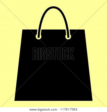 Shopping bag. Flat style icon