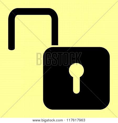 Unlock sign. Flat style icon