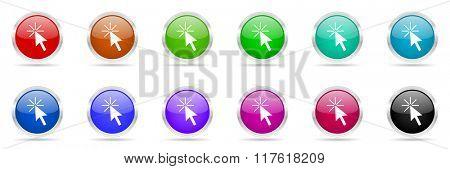 arrow colorful web icons set