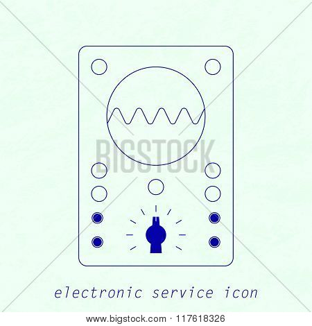 Icon of electrical measuring instrument. Vector illustration
