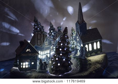 Christmas Village Made Of Ceramic
