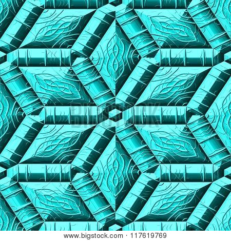 Abstract decorative iron light blue texture-pattern