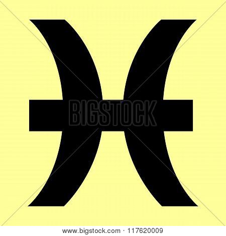 Pisces sign. Flat style icon