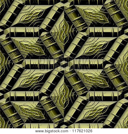 Abstract decorative iron gold texture-pattern