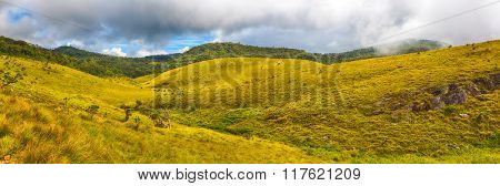 Beautiful view of The Horton Plains. Panorama