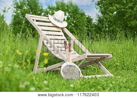 Summer Still Life With Chaise-longue