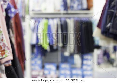 specially blurred defocused shop background