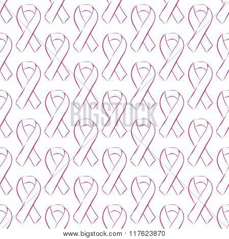 Seamless pattern pink ribbon