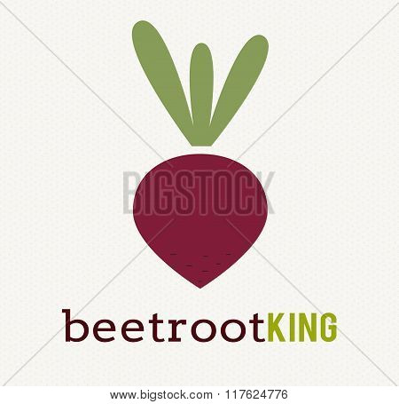 Beetroot vegetable logo icon template design.