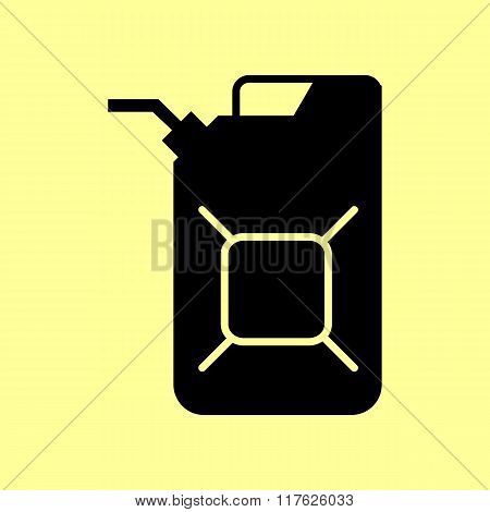 Jerrycan oil sign