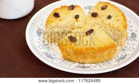 Baath Cake Or Semolina And Coconut Cake From Goa, India