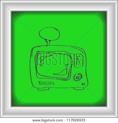 Simple Doodle Of A Tv