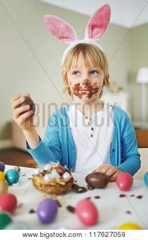Having Easter dessert
