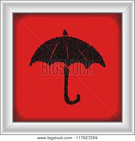 Simple Doodle Of An Umbrella
