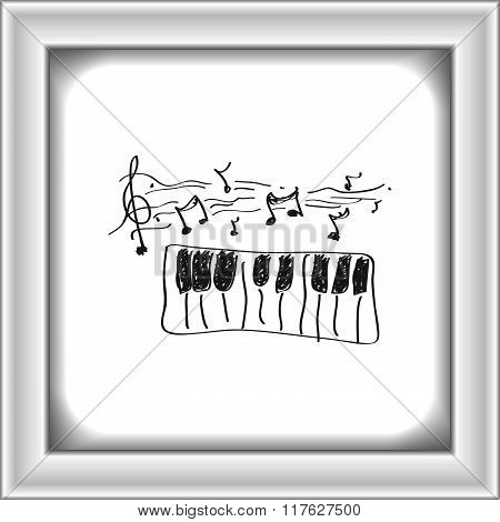 Simple Doodle Of A Piano